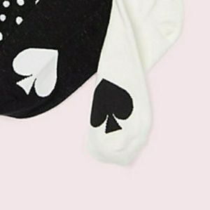 Kate Spade black and white no show socks